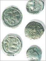 Бибракта (Bibracte). Бронзовые и медные монеты эдуев