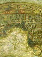 Мозаика на «римской» вилле в Лупиане (Loupian), средиземноморское побережье Франции, в центре Нарбоннской Галлии