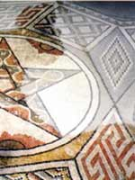 Мозаика на «римской» вилле в Лупиане (Loupian), юго-восток Франции