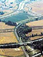 Акведук в провинции Наварра (Navarra), север Испании (вид сверху)