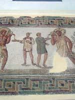 Мозаика со славяно-арийскими символами из музея Бардо, Тунис