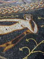 Мозаика на «римской» вилле в Вудчестере, графство Глостершир, юго-запад Англии (Woodchester, Gloucestershire)