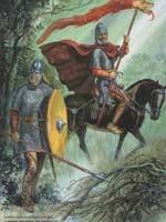 Сарматские рыцари с символом дракона