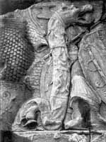 Сарматский дракон на колонне Траяна в Риме