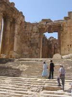 Храмовый комплекс, Баальбек. Храм Бахуса. Лестница