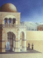 Иерихон. Дворец Хишама. Фонтан. Реконструкция