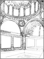 Иерихон. Дворец Хишама. Банный комплекс. Реконструкция комнаты отдыха