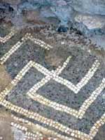 Кибуц Маоз Хаим. Мозаика со славяно-арийскими символами