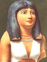 Бюст египетской благородной дамы 4-й династии, приблизительно 2600 г. до н.э. Глаза инкрустированы лазуритом