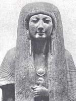Мерит, жена Майя. 18-ая Династия, около 1345 г. до н.э. Музей в Лейдене, Годдандия