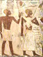 Белокурые спутники, из могилы Джехутихопте (Djehutihotpe), Деир-эль-Берша, Среднее Царство