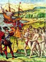 Индейцы приветствуют испанцев