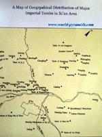 Пирамиды в Китае. Карта пирамид, расположенных около города Сианя