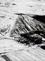 Пирамиды в Китае. Великая Белая пирамида. Фото 1945 года