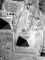 Пирамиды на плато Гизы в Египте