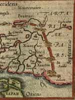 Великая Китайская стена. Карта Ортелиуса 1602 год