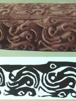 Предметы из могил белого человека в Китае. Деревянная шкатулка