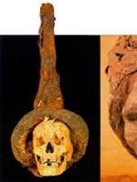 Предметы из могил белого человека в Китае. Колпак
