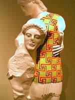 Тесей и Антиопа из храма Аполлона в Эретрии (о. Эвбея) (кон. VI в. до н.э.)