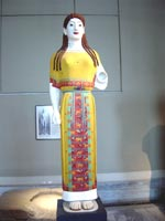 Кора Пеплофора (носящая пеплум), музей Акрополя Афины 530-520 гг. до н.э.