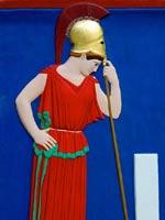 Афина, опирающаяся на копьё. Рельеф с Афинского Акрополя. Середина 5 в. до н.э.