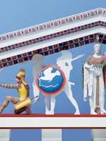 Фронтон храма Афины Афайи в Эгине. 480 г. до н.э.