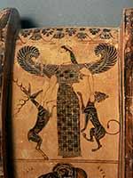Артемида – повелительница животных. Греческая ваза. 575 г до н.э.