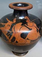 Афина и Персей убивают Медуcу. Греческая ваза. 460 г до н.э.