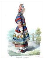 Женский народный костюм. Тульская губ.