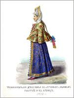 Женский народный костюм. Тверская губ., г. Торжок