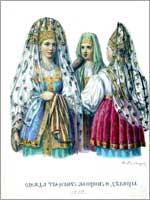 Женский народный костюм. Тверская губ.
