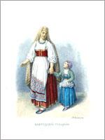 Женский народный костюм. Вологодская губ.