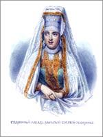 Женский народный костюм. Тверская губ. г. Ржев.