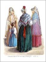 Женский народный костюм. Тверская губ. г. Ржев