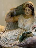 Саркофаг этрусской женщины, 150 г. до н.э, Кьюзи (Chiusi), Тоскана