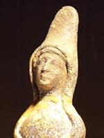 Глиняная фигурка иберийской женщины