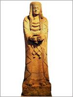 Известняковая фигурка иберийской женщины
