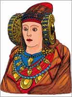 Восстановленное изображение Дамы из Эльче (Dama de Elche)