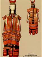 Женский костюм с кикой из коллекции Рязанского музея