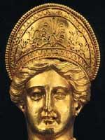 Голова скифской богини