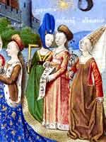 Средневековые женские головные уборы
