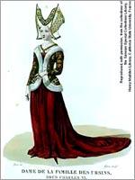 Дама из рода Орсини, Италия 14 в.