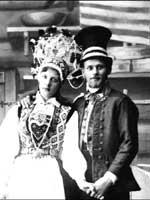 Шведский народный свадебный костюм