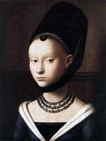 Портрет молодой девушки, Петрус Кристус, 1460 г.