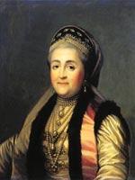 Вигилиус Эриксен. Портрет Екатерины II в шугае и кокошнике