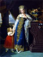 Лефевр Робер. Портрет княгини М.Ф. Барятинской с дочерью Ольгой, 1817 г.