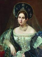 Пимен Орлов. Портрет А.А. Окуловой. 1837 г., камер-фрейлин
