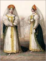 Статс-дамы и камер-фрейлины. Альбом «Придворных дамских нарядов», 1834 г.