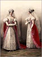 Фрейлины великих княгинь. Альбом «Придворных дамских нарядов», 1834 г.
