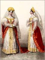 Гофмейстерины при фрейлинах. Альбом «Придворных дамских нарядов», 1834 г.